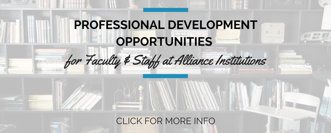 Professional Development Opportunities for Alliance Faculty & Staff